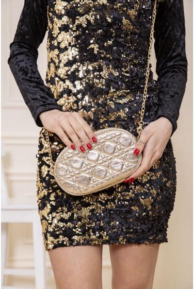 Женская сумка-клатч золотистого цвета 154R003-25-1 48162