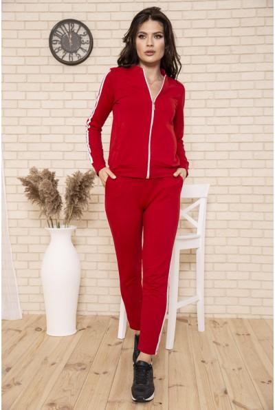 Спорт костюм женский 102R5037 цвет Красный