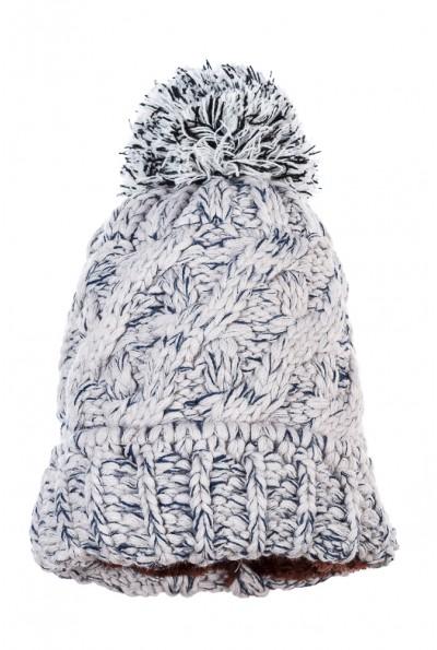Шапка женская крупная вязка  AG-0008324 цвет Серо-сизый