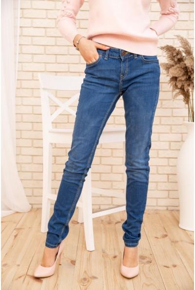 Зауженные женские джинсы с высокой талией цвет Синий 171R008 53688