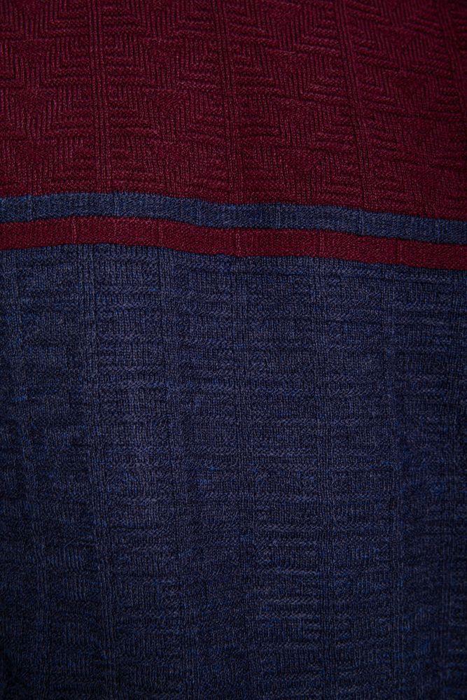 Свитер мужской 161R2370 цвет Бордово-синий 5