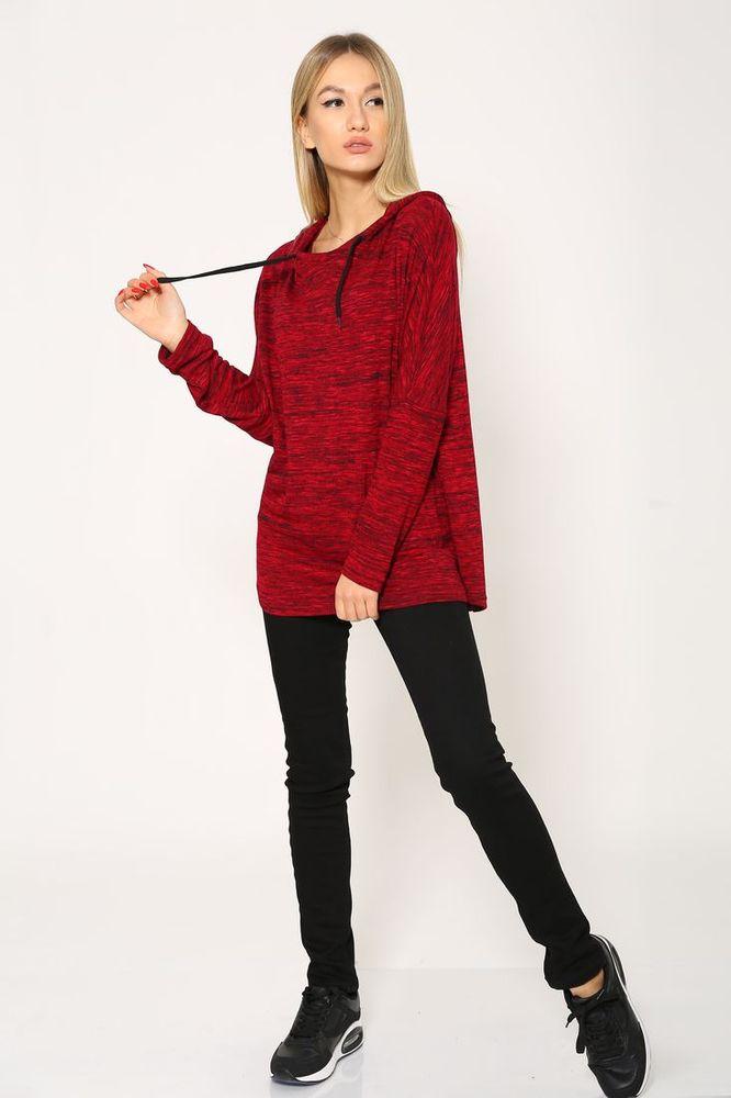Батник женский 115R158 цвет Красный меланж 5