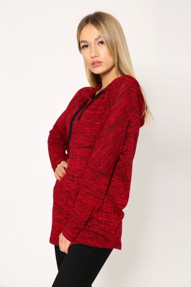 Батник женский 115R158 цвет Красный меланж 4