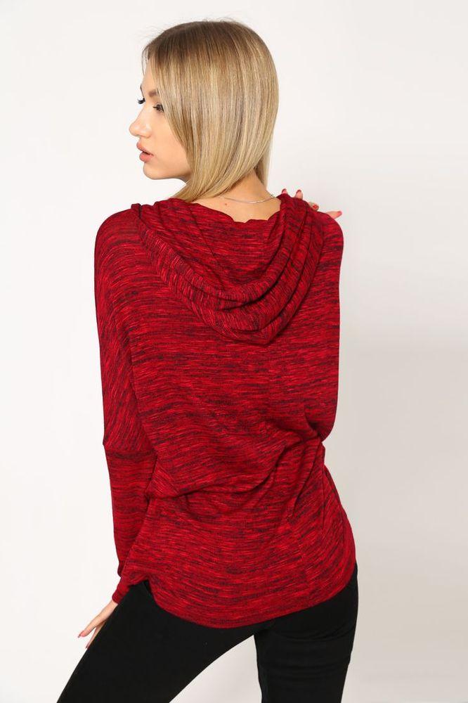 Батник женский 115R158 цвет Красный меланж 3